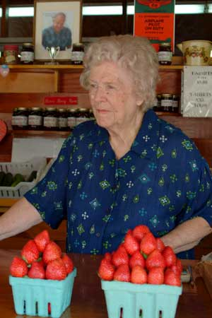 Mary Idean Burr has been greeting customers for more than 45 years